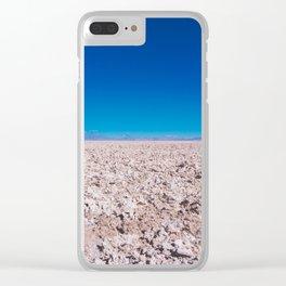 San Pedro de Atacama Salt Field, Chile Clear iPhone Case