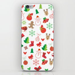 Happy New Year and Christmas Symbols Decoration iPhone Skin
