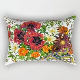 Fancy Poppies  Rectangular Pillow