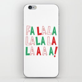 FA LA LA LA LA CHRISTMAS iPhone Skin