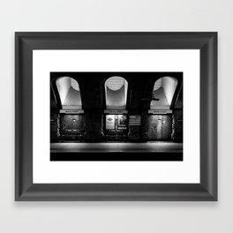 Alight here for Sherlock Holmes - Baker Street Tube Framed Art Print