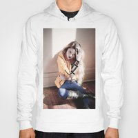 sky ferreira Hoodies featuring I Blame Myself ~ Sky Ferreira by Michelle Rosario