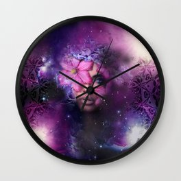 Ode to Ultra Violet Wall Clock