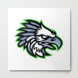 American Harpy Eagle Mascot Metal Print