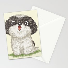 Shih Tzu happy Stationery Cards
