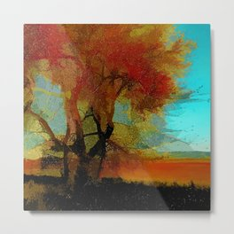 Red Tree Metal Print