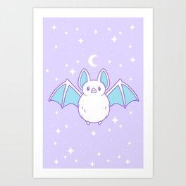 Cute Pastel Bat Kunstdrucke