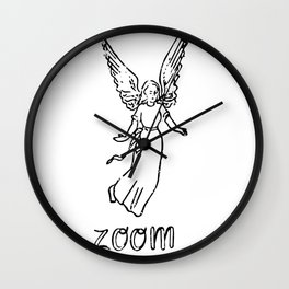 Angel of Zoom Wall Clock