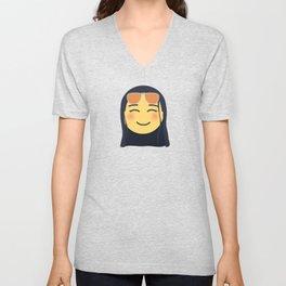 Nico Robin Emoji Design Unisex V-Neck