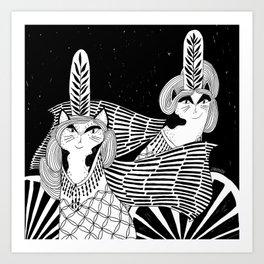 Cat Walk Terrarium Art Print