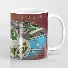 West Palm Beach Waterfront & City Commons Coffee Mug