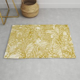 forest floor gold ivory Rug