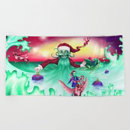 Coming home for Christmas Beach Towel