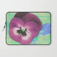 Looking back in the light green room Laptop Sleeve