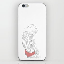 line drawing of a beautiful muse iPhone Skin