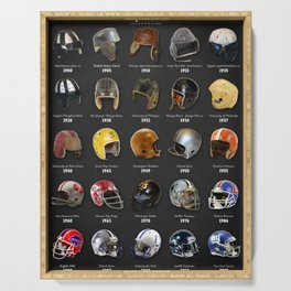 The Evolution Of The Football Helmet Serving Tray