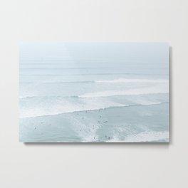 Tiny Surfers from the Sky, Lima, Peru Metal Print