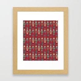 The Nutcracker Prince Pattern Red Framed Art Print