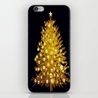 christmas tree iPhone & iPod Skins featuring Christmas tree by valzart