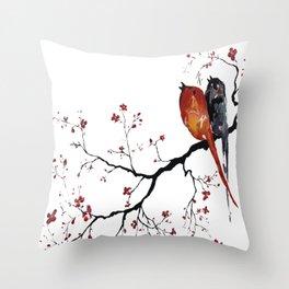 Birds Happy Singing Throw Pillow