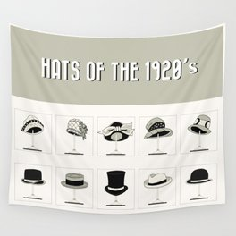 Hats of the 1920's Wall Tapestry
