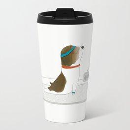 """Upward Dog"" Travel Mug"