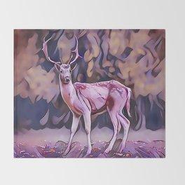 The Red Deer Throw Blanket