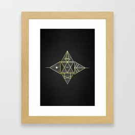 Runes Framed Art Print