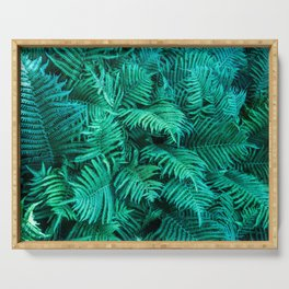 Fern Photography | Emerald | Turquoise |Tropical Leaves | Art Print Serving Tray