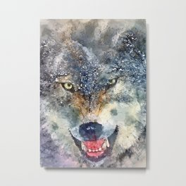 wolf painting Metal Print