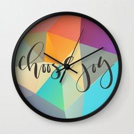 Choose Joy (Crystal) Wall Clock