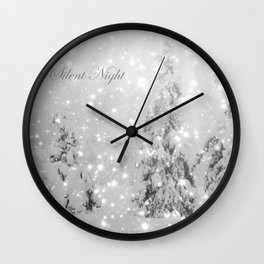 Silent Night - B & W Wall Clock