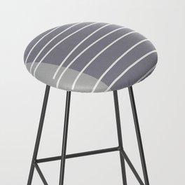 Mid century modern textured gray stripes Bar Stool