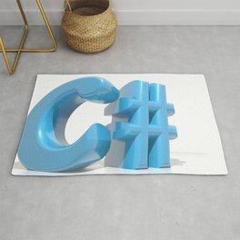 C# Blue Rug