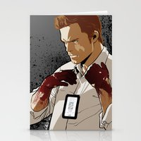 dexter Stationery Cards featuring Dexter by Elena Casagrande