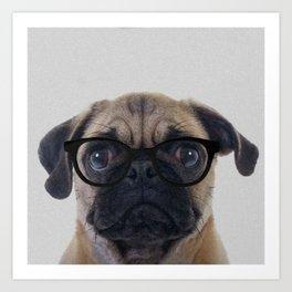 Geek Pug Art Print