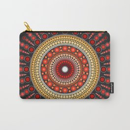 Red Mandala Carry-All Pouch