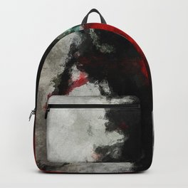 Black and Red Abstract Art Backpack