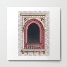 Decoratet Window Metal Print