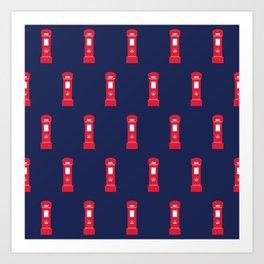 Red British post box Art Print