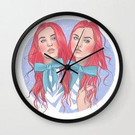 Follow the White Rabbit - Tweedles Wall Clock