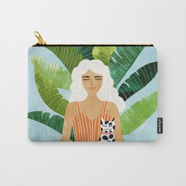 Meditation With Thy Cat #illustration #painting Carry-All Pouch