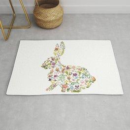Springtime Flower Bunny Rug