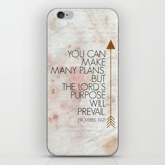 Purpose- Proverbs 19:21 iPhone & iPod Skin