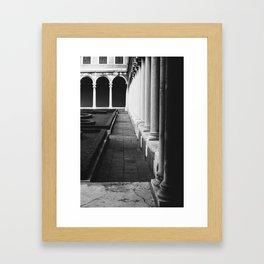 At the Cini Foundation Venice, Italy Framed Art Print