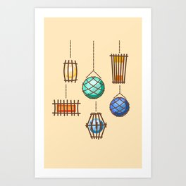 Tiki Lights Art Print