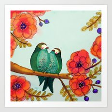 feather bellies Art Print