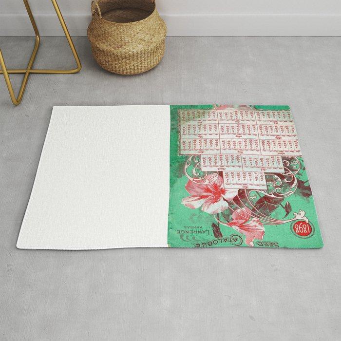 Vintage poster - F  Barteldes Seed Calendar Rug by mosfunky