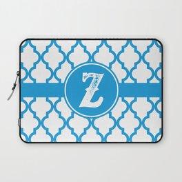Blue Monogram: Letter Z Laptop Sleeve