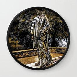 Stevie Ray Vaughan Statue - Austin, Texas - Graphic 3 Wall Clock